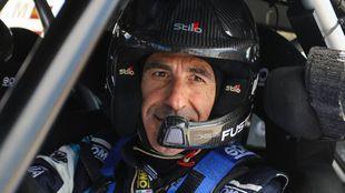 El piloto alicantino durante un test el pasado año.