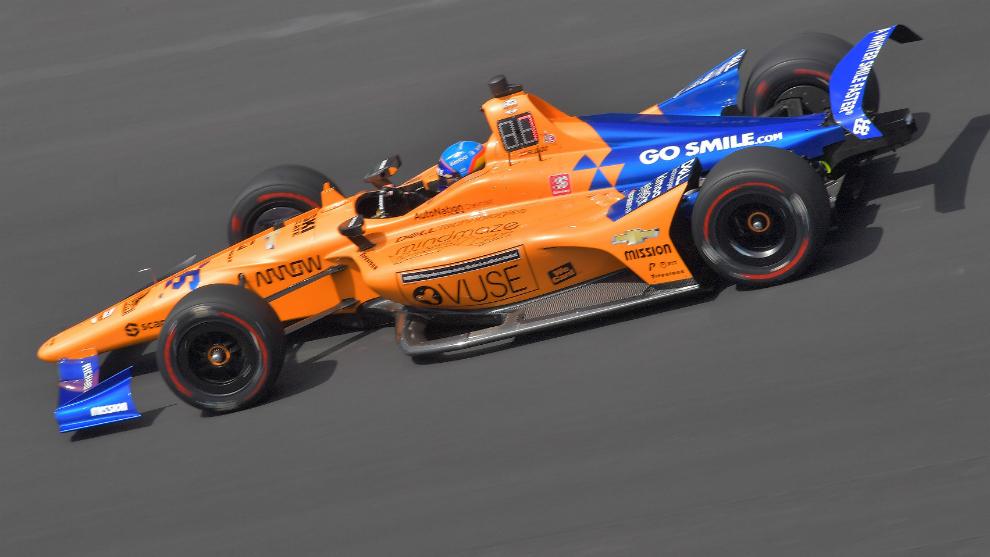Fernando Alonso, en la Indy500.