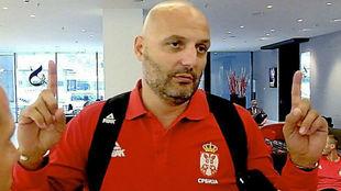 Djordjevic gesticula durante una entrevista con MARCA.