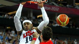 'Melo' machaca delante de Rudy en la final olímpica de...