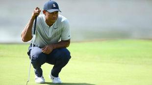 Tiger Woods, en la primera jornada del The Northen Trust.