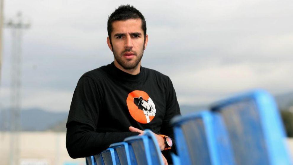 Pablo Couñago en La Rosaleda