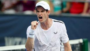 Andy Murray celebra un punto en el torneo de Washington.