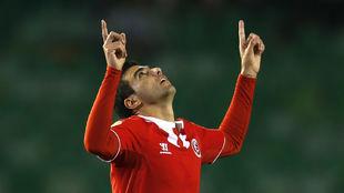 José Antonio Reyes celebrando un gol con el Sevilla.