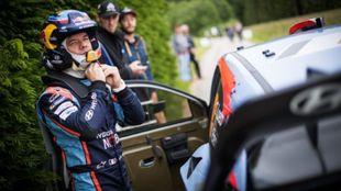 'Seb' durante una prueba de la Alsacia (Rally Vosges) donde...