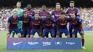 Alineación inicial del Barcelona en el pasado Gamper
