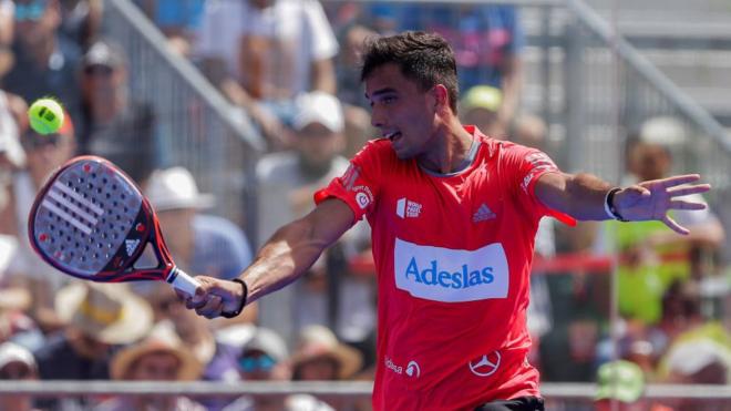Alejandro Galán durante el partido de semifinal