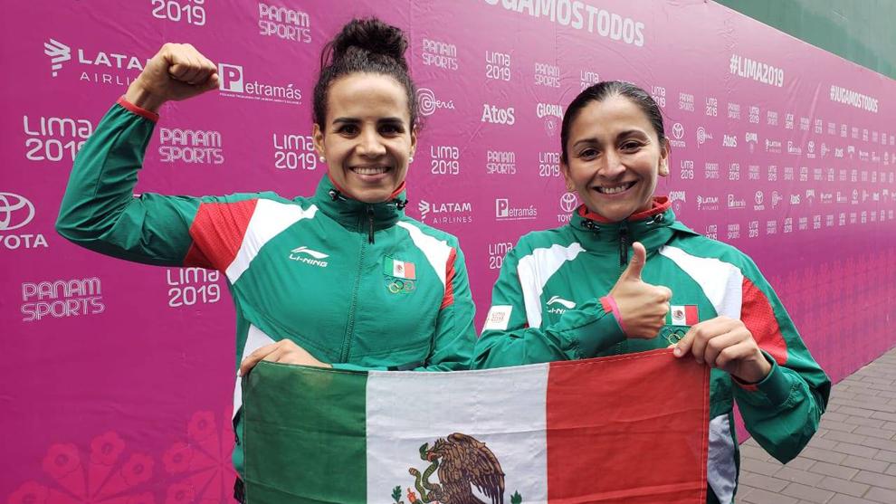 Guadalupe Hernández y Ariana Cepeda festejan su triunfo en Lima 2019