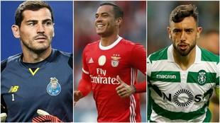 Casillas (38), Raúl de Tomás (24) y Bruno Fernandes (24).