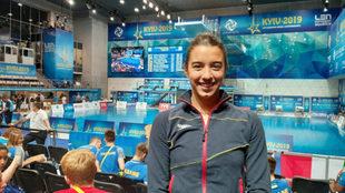 Valeria Antolino posa tras lograr la octava plaza en el Europeo.