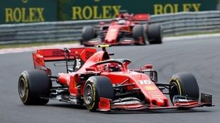 Leclerc (foto) en acción del GP de Hungría.