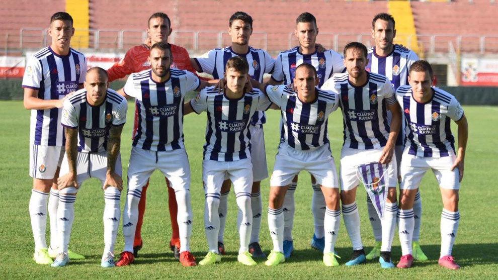 El once del Valladolid que saltó de inicio frente al Brescia.