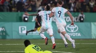 Argentina venció a Honduras en la final del fútbol varonil.