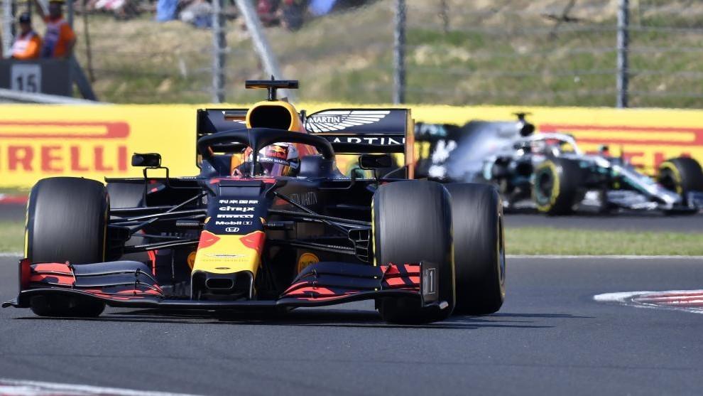 Verstappen y Hamilton en Hungaroring.