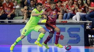 Sergio Lozano (31) y Pito (27) durante la última final de la LNFS...