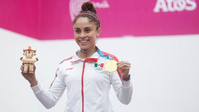 Paola Longoria consiguió su noveno oro en Lima 2019.