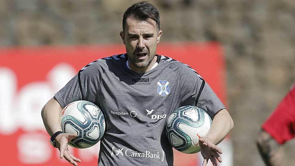 Aritz López Garai, durante un entrenamiento de esta pretemporada en...