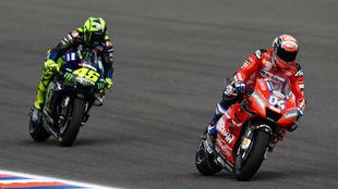 Rossi, tras Dovizioso esta temporada.