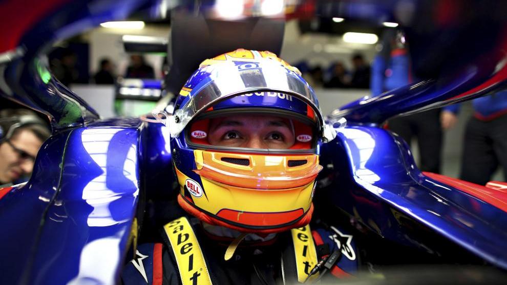 Albon, en Toro Rosso.