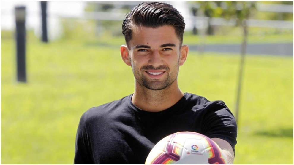 Enzo Zidane in an interview during his time with Rayo Majadahonda.