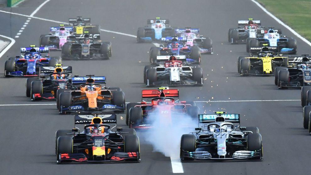 Salida del Gran Premio de Hungría.