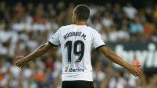 Rodrigo Moreno en Mestalla.