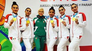El equipo mexicano femenil en Lima 2019