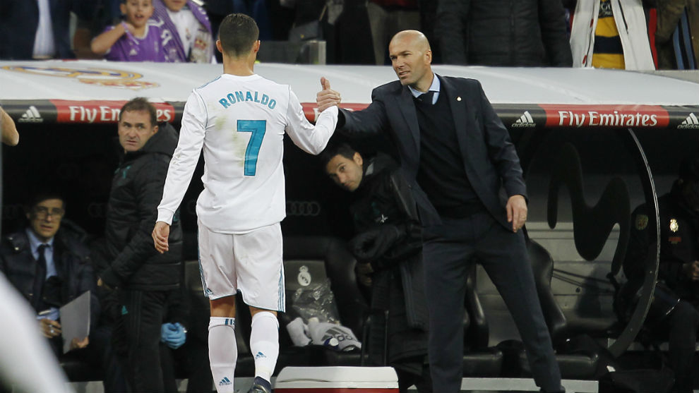 Cristiano Ronaldo heaps praise on his former Real Madrid boss Zinedine Zidane