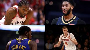 Leonard, Davis, Durant y Porzingis, entre las 13 estrellas que...