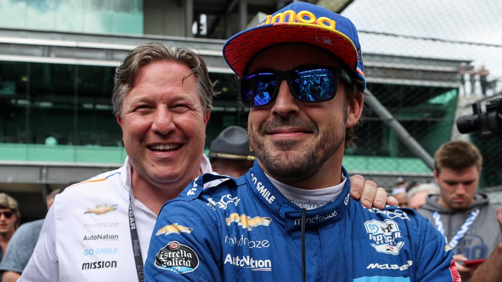 Fernando Alonso y Zak Brown Indy 500 2019