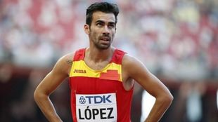 Kevin López tras una carrera