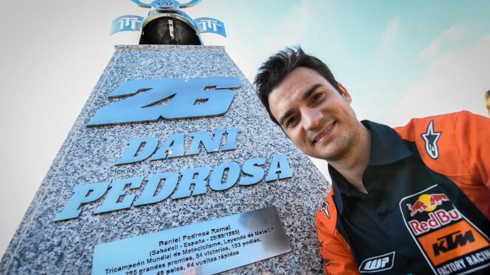 Dani Pedrosa, durante su homenaje en Jerez.