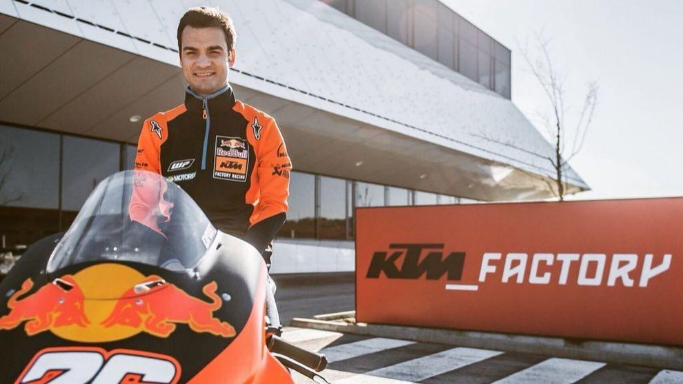 Dani Pedrosa, piloto probador de KTM.