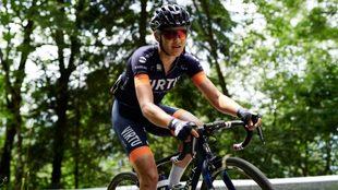 Katrine Aalerud en una etapa del Giro Rosa 2019.