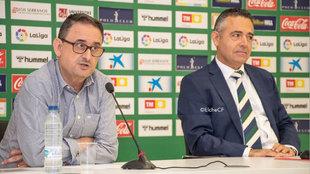 Diego García y Ramón Segarra en comparecencia pública.