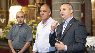 El presidente Miguel Ángel Ramirez, durante la tradicional visita a...