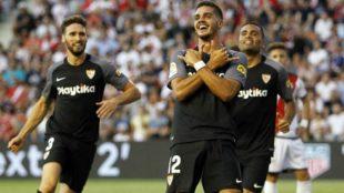 André Silva celebra un gol frente al Rayo Vallecano como jugador del...