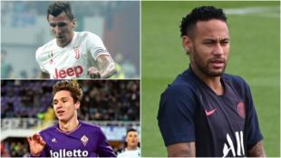 Mandzukic, Chiesa y Neymar agitan el mercado