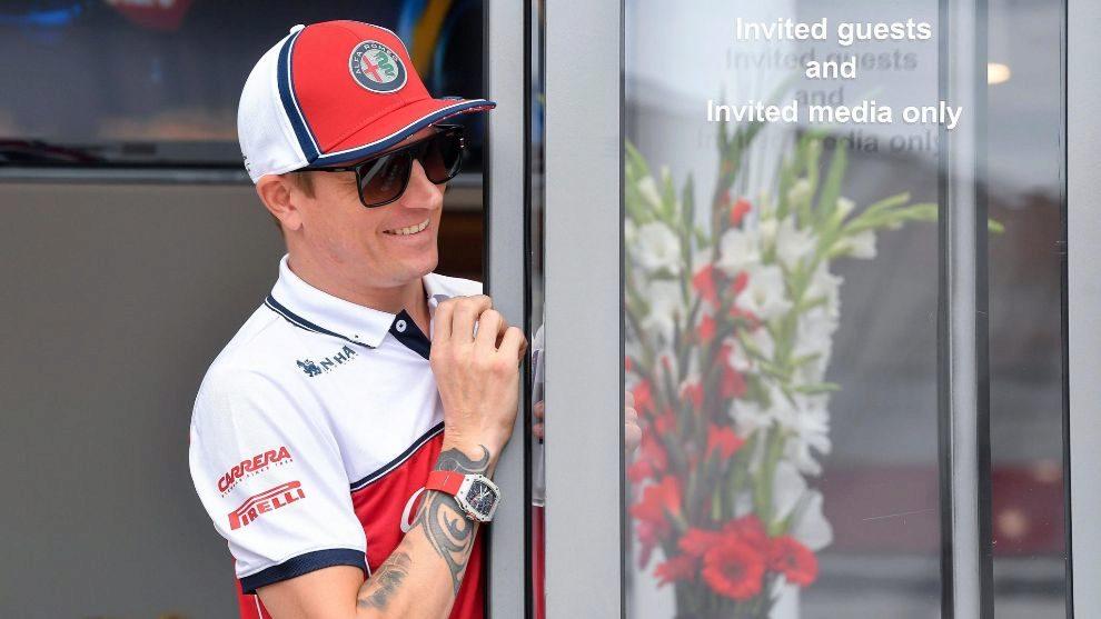 Kimi Raikkonen en el pasado Gran Premio de Hungría.