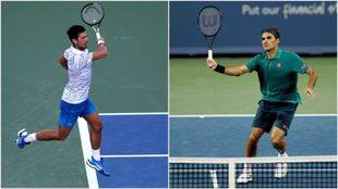 Djokovic y Federer, en juego