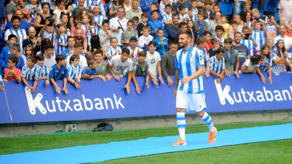 Portu, en su presentación oficial con la Real Sociedad.