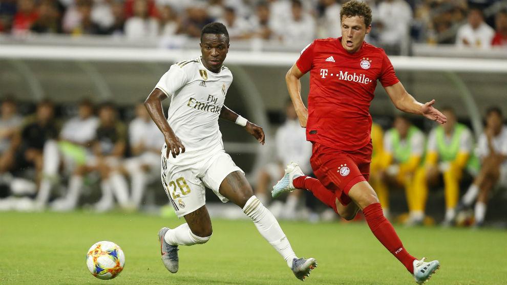 Vinícus, en el partido ante el Bayern jugado en Houston.