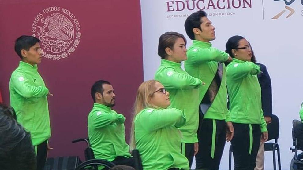 El abanderamiento de México rumbo a los Parapanamericanos