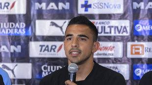 Alonso Escoboza en conferencia de prensa