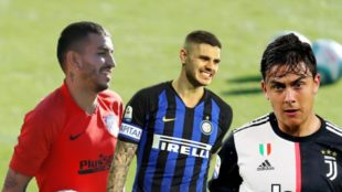Correa, Icardi y Dybala en el mercado