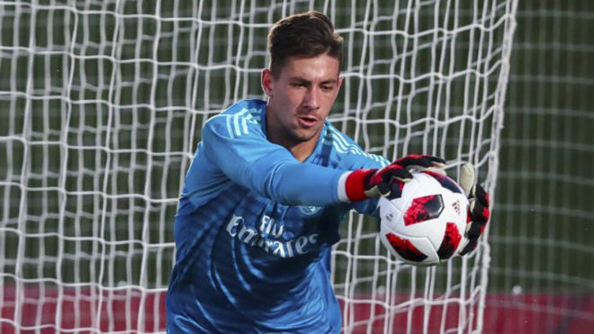 Diego Altube playing for Real Madrid Castilla.