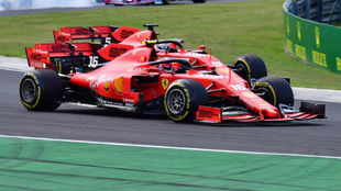 Leclerc y Vettel, en Hungría.