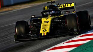Ricciardo, con el Renault.