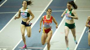 Marta Pérez durante el Europeo de pista cubierta de Glasgow de este...
