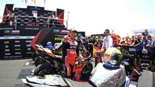 Bautista, ante el podio en Jerez.